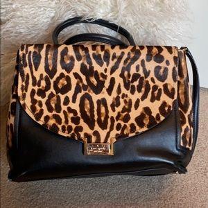 Kate Spade, calf hair cheetah print shoulder bag